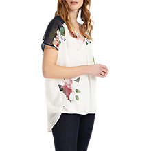 Buy Phase Eight Alma Floral Print Blouse, White/Multi Online at johnlewis.com