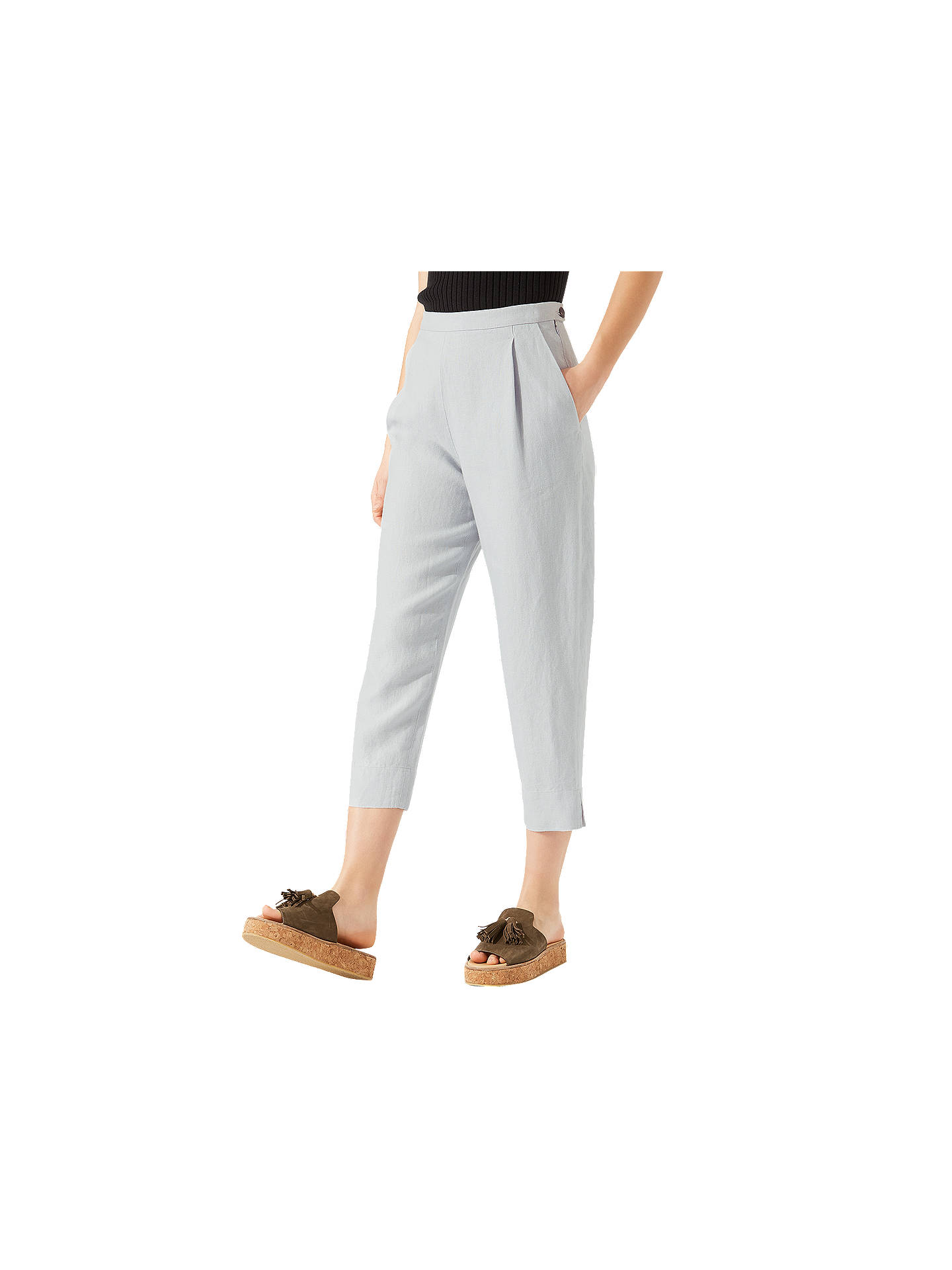 be8dcaafcb Buy Jigsaw Louisiana Linen Trousers, Icy Grey, 6 Online at johnlewis.com ...