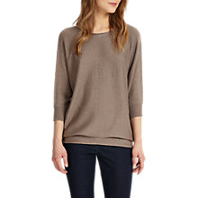 Buy Phase Eight Becca Tape Yarn Batwing Jumper, Mushroom Online at johnlewis.com