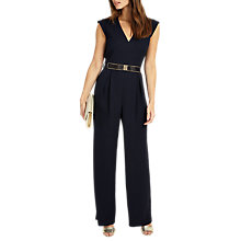 Buy Phase Eight Adelaide Belted Jumpsuit, Navy Online at johnlewis.com