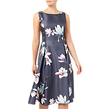 Buy Jacques Vert Floral Print Structured Prom Dress, Grey/Multi Online at johnlewis.com