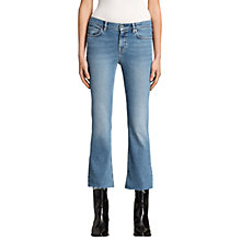 Buy AllSaints Zoe Cropped Bootcut Jeans, Light Indigo Blue Online at johnlewis.com