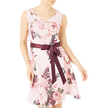 Buy Jacques Vert Petite Floral Burnout Dress, Multi/Pink Online at johnlewis.com