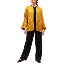 Buy Jaeger Batwing Edge to Edge Jacket, Mustard Online at johnlewis.com