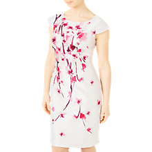 Buy Jacques Vert Petite Blossom Shantung Dress, Pink/Multi Online at johnlewis.com