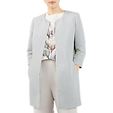 Buy Jacques Vert Textured Occasion Overcoat, Mid Grey Online at johnlewis.com