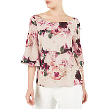 Buy Jacques Vert Petite Kyoto Bloom Blouse, Pink/Multi Online at johnlewis.com