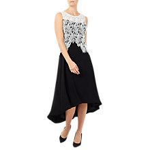 Buy Jacques Vert Leaf Lace Fishtail Dress, Multi Black Online at johnlewis.com