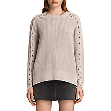 Buy AllSaints Aria Laced Jumper, Nude Pink Online at johnlewis.com