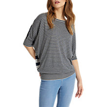 Buy Phase Eight Mixed Stripe Becca Knitted Top, Navy/Silver Online at johnlewis.com