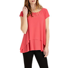 Buy Phase Eight Leela Layered Top, Perky Pink Online at johnlewis.com