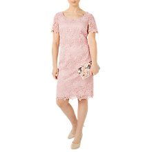Buy Jacques Vert Petite Ditsy Lace Dress, Pastel Pink Online at johnlewis.com