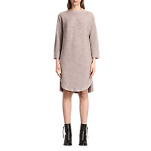 Buy AllSaints Esia Wool Knit Dress, Quartz Pink Marl Online at johnlewis.com
