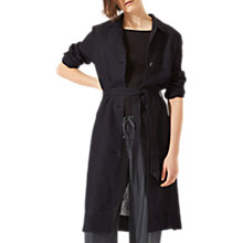 Buy Jigsaw Louisiana Linen Trench Coat, Black Online at johnlewis.com