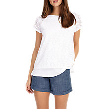 Buy Phase Eight Peggy Pointelle Top, White Online at johnlewis.com