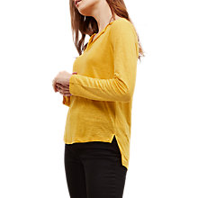 Buy Jaeger Linen Split Hem Top Online at johnlewis.com