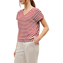 Buy Jaeger Striped Jersey Top, Red/Neutral Online at johnlewis.com