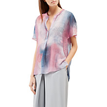 Buy Jigsaw Spirograph Print Silk Blouse, Pink Ash Online at johnlewis.com