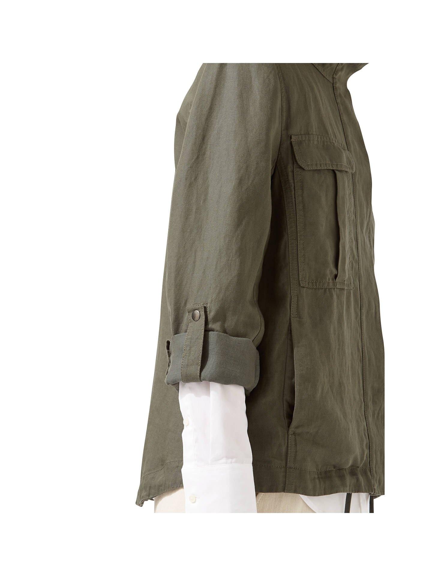 408807335bb ... Buy Jigsaw Linen Mix Military Jacket