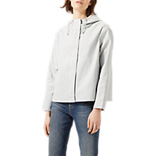 Buy Jigsaw Rosie Cropped Parka, Chalk Grey Online at johnlewis.com