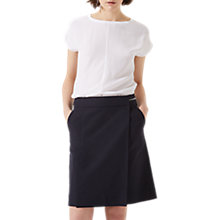 Buy Jigsaw Zip Detail Utility Skirt, Dark Navy Online at johnlewis.com
