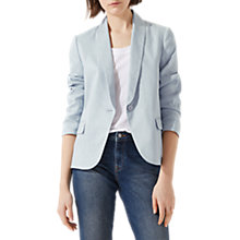 Buy Jigsaw Portofino Linen Jacket, Icy Grey Online at johnlewis.com