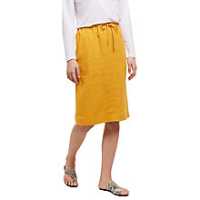 Buy Jaeger Linen Paper Bag Pencil Skirt, Sunfower Online at johnlewis.com