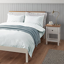Buy John Lewis Eton Stripe Jacquard Cotton Duvet Cover and Pillowcase Set Online at johnlewis.com