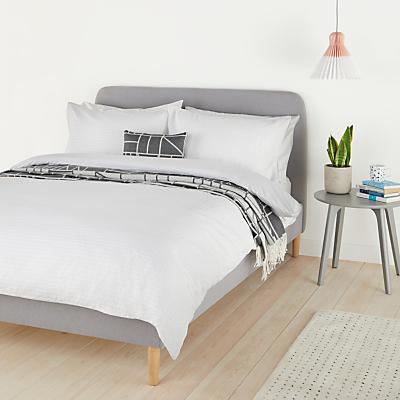 House by John Lewis Field Cotton Seersucker Duvet Cover and Pillowcase Set