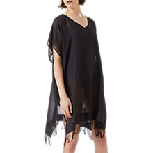Buy Jigsaw Sheer Stripe Kaftan, Black Online at johnlewis.com