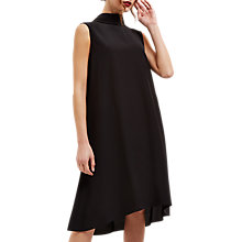 Buy Jaeger Silk Cowl Neck Dress, Black Online at johnlewis.com