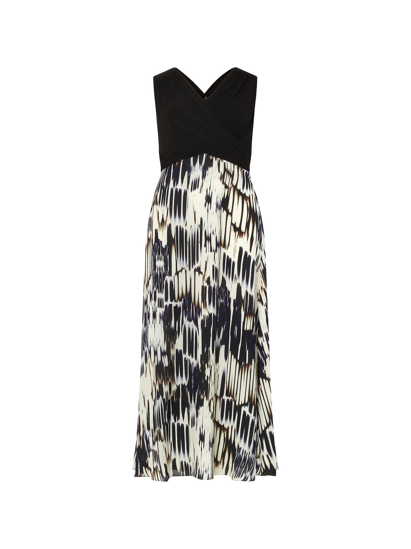 BuyStudio 8 Federica Maxi Dress, Black/White, 12 Online at johnlewis.com