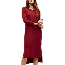 Buy Jaeger Jersey Split Sleeve Dress, Bordeaux Online at johnlewis.com