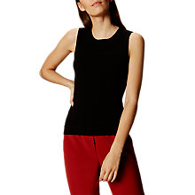 Buy Karen Millen Bubble Stitch Knit Tank Top, Black Online at johnlewis.com