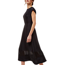 Buy Jaeger Silk Chiffon Panelled Dress, Black Online at johnlewis.com