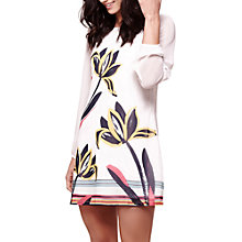 Buy Yumi Floral Brushstroke Print Long Sleeve Dress, Ivory Online at johnlewis.com
