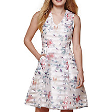 Buy Yumi Floral Organza Stripe Flared Dress Online at johnlewis.com