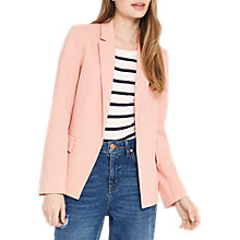 Buy Oasis Ponte Ottoman Blazer, Blush Online at johnlewis.com