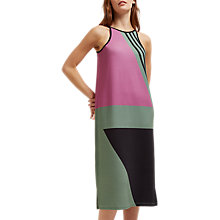Buy Jaeger Block Print Racer Dress, Purple/Multi Online at johnlewis.com