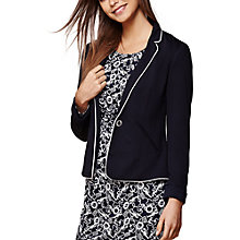 Buy Yumi Nautical Stripe Fitted Blazer, Dark Navy Online at johnlewis.com