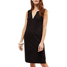 Buy Jaeger Jersey Split Hem Dress, Black Online at johnlewis.com