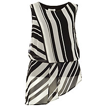 Buy Studio 8 Dita Top, Black/White Online at johnlewis.com
