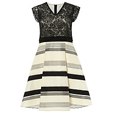 Buy Studio 8 Coco Dress, Black/Ivory Online at johnlewis.com