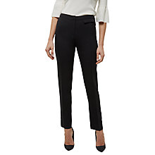 Buy Jaeger Wool Split Detail Trouser, Black Online at johnlewis.com