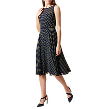 Buy Hobbs Della Dress, Navy/Lemon Online at johnlewis.com
