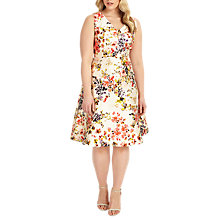 Buy Studio 8 Jennifer Floral Print Dress, Pink/Multi Online at johnlewis.com