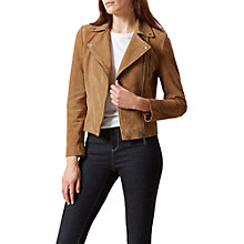 Buy Hobbs Laurelle Biker, Tan Online at johnlewis.com