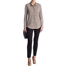 Buy Pure Collection Luxury Suede Shirt Online at johnlewis.com