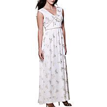 Buy Yumi Foil Butterfly Print Maxi Dress, Ivory Online at johnlewis.com
