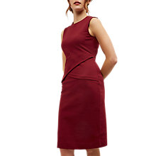 Buy Jaeger Compact Jersey Wrap Dress, Winter Berry Online at johnlewis.com